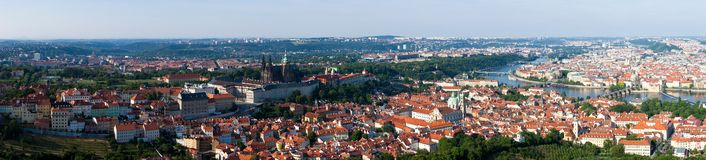 Panoramic View of Prague Stock Photos