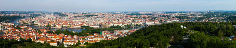 Panoramic View of Prague Stock Photo
