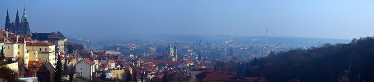 Panoramic view of Prague Stock Image