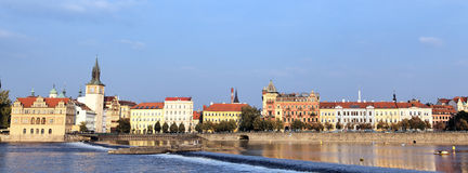 Panoramic view of Prague Stock Image