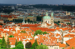 Panoramic View Of Prague Royalty Free Stock Photo