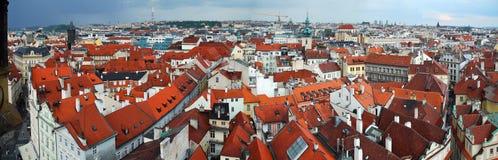 Panoramic View Prague Stock Photo
