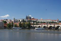 Panoramic view of Prague castle Stock Photography