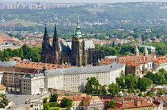 Panoramic view of the Prague Castle Stock Images