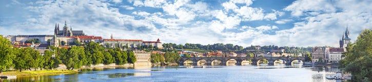 Panoramic view of Prague. Stock Photos