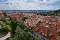 Panoramic view of Prague Royalty Free Stock Photography