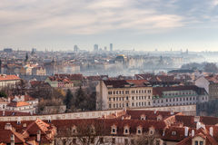 Panoramic view of Prague, Czech Republic Royalty Free Stock Photo