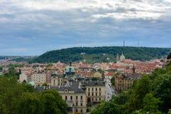 Panoramic view of Prague, Czech Republic Royalty Free Stock Image