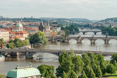Panoramic view of Prague, Czech Republic Royalty Free Stock Photo