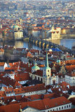 Panoramic view from Prague, Czech Republic Royalty Free Stock Images