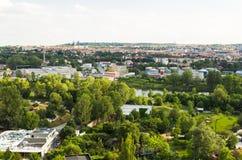 Panoramic view of Prague, Czech Republic Stock Photos
