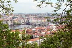Panoramic view of prague old town Stock Image
