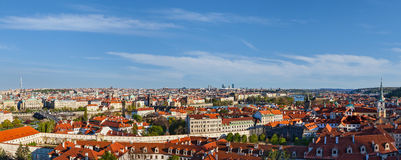 Panoramic view of Prague from Prague Castle Royalty Free Stock Photography