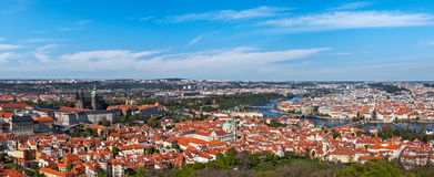 Panoramic view of Prague from Prague Castle Royalty Free Stock Image