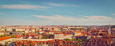 Panoramic view of Prague from Prague Castle Royalty Free Stock Images