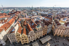 Panoramic View of Prague Royalty Free Stock Image