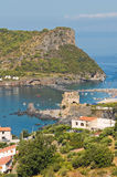 Panoramic view of Praia a Mare. Calabria. Italy. Stock Image
