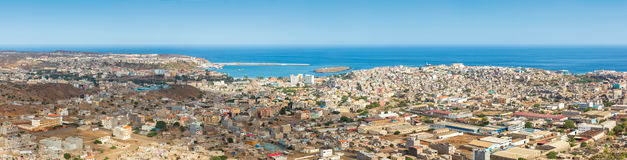 Panoramic view of Praia in Santiago - Capital of Cape Verde Isla Royalty Free Stock Images