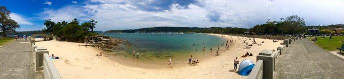 Panoramic view of Promenade & Balmoral beach during summer Stock Photography