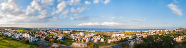 Panoramic view of Protaras Royalty Free Stock Photo