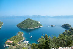 Panoramic view of the Prozura bay, island  Mljet Stock Photo