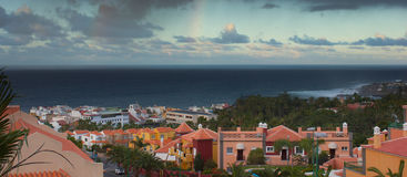 Panoramic view of Puerto de la Cruz,  Tenerife, Spain Stock Images