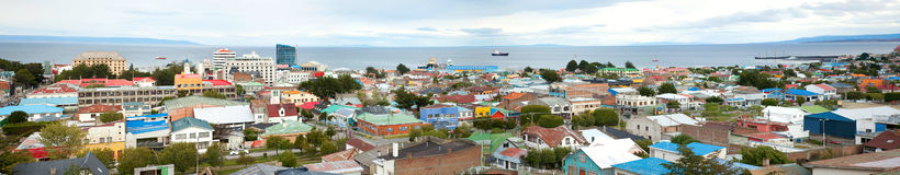 Panoramic view of Punta Arenas, Chile Stock Photo