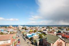 Panoramic view of Punta Arenas Royalty Free Stock Images