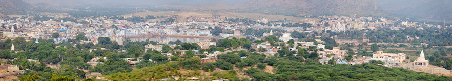 Panoramic View of Pushkar, India Stock Image