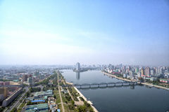 Panoramic view of Pyongyang in the morning. DPRK - North Korea. May 02, 2017 Stock Photo