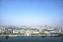 Panoramic view of Pyongyang in the morning. DPRK - North Korea. Stock Photo