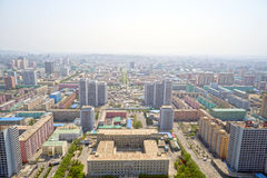 Panoramic view of Pyongyang in the morning. DPRK - North Korea. Stock Photos
