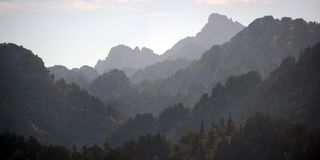 Panoramic view of Pyrenees royalty free stock photography