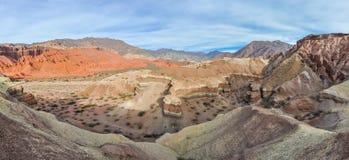 Panoramic view in the Quebrada de las Conchas, Argentina Stock Image