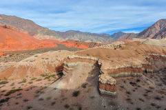 Panoramic view in the Quebrada de las Conchas, Argentina Stock Photos