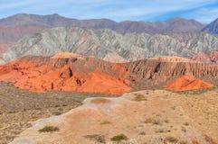 Panoramic view in the Quebrada de las Conchas, Argentina Royalty Free Stock Photos