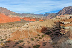 Panoramic view in the Quebrada de las Conchas, Argentina Royalty Free Stock Photography