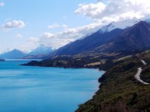 Panoramic View on the Road to Glenorchy, New Zealand Royalty Free Stock Photography
