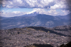 Panoramic view of Quito, Ecuador Royalty Free Stock Photos