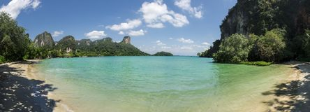 Panoramic view of Railay Beach, Thailand Royalty Free Stock Images