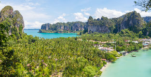 Panoramic view of Railay Royalty Free Stock Photography