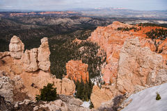 Panoramic view at Rainbow Point in Bryce Canyon Royalty Free Stock Images