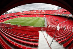 Panoramic view of Ramon Sanchez Pisjuan stadium. Royalty Free Stock Photo