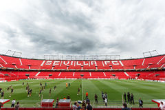Panoramic view of Ramon Sanchez Pisjuan stadium. Royalty Free Stock Images