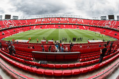 Panoramic view of Ramon Sanchez Pisjuan stadium. Stock Images