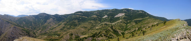 Panoramic view of range of hills Royalty Free Stock Photography