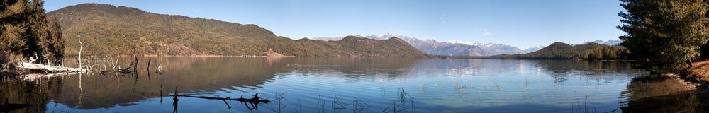 Panoramic view of Rara Daha or Mahendra Tal Lake Stock Photos
