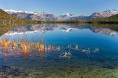 Panoramic view of Rara Daha or Mahendra Tal Lake Royalty Free Stock Images
