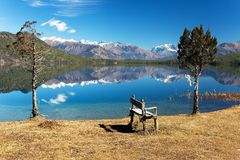 Panoramic view of Rara Daha or Mahendra Tal Lake Royalty Free Stock Image