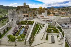Panoramic View of the Reconstructed Medieval Town - Castle, Georgia. Rabati Castle, Akhlatsikhe, Georgia - May, 2017: Panoramic View of the Reconstructed Stock Images